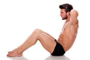 Bauchmuskelübungen und Ernährung für einen Six-Pack